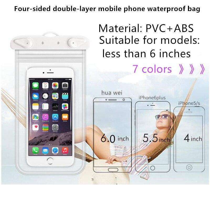 JDENKE Swimming Phone Bags Diving Waterproof Case Swim 3.5 To 6.0 Inch Waterproof Cell Phone Dry Bag Storage Drifting Sport Bags