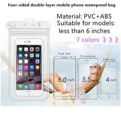 JDENKE Swimming Phone Bags Diving Waterproof Case Swim 3.5 to 6.0 Inch Waterproof Cell Phone Dry Bag Storage Drifting Sport Bags