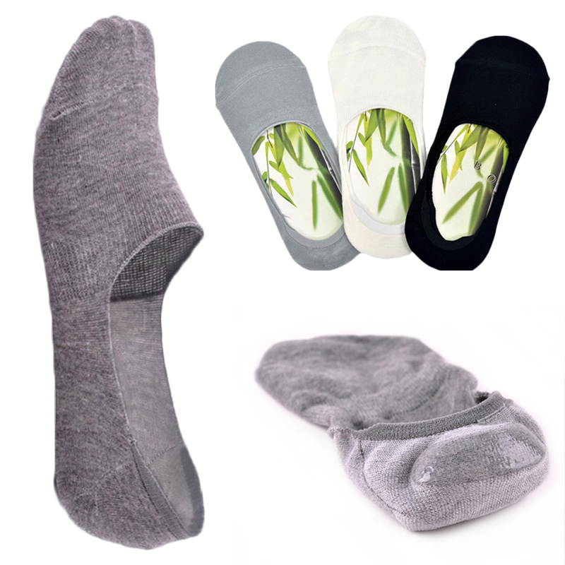 6pcs=3Pair/lot Fashion Happy Men Boat Socks Summer Autumn Non-slip Silicone Invisible Cotton Socks Male Ankle socks(China)