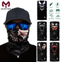 3D Seamless Venom Face Mask Bandanas Cosplay Cycling Motorcycle Motorbike Moto Fishing Head Shield Scarf Tube Headband Men Women