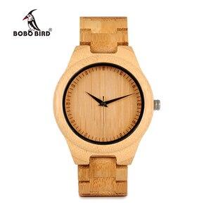 Image 2 - BOBO BIRD WD19 Top Brand Designer Full Bamboo Mens Watches Luxury Japanses Moyia Movement Quartz Wristwatches Wooden Box