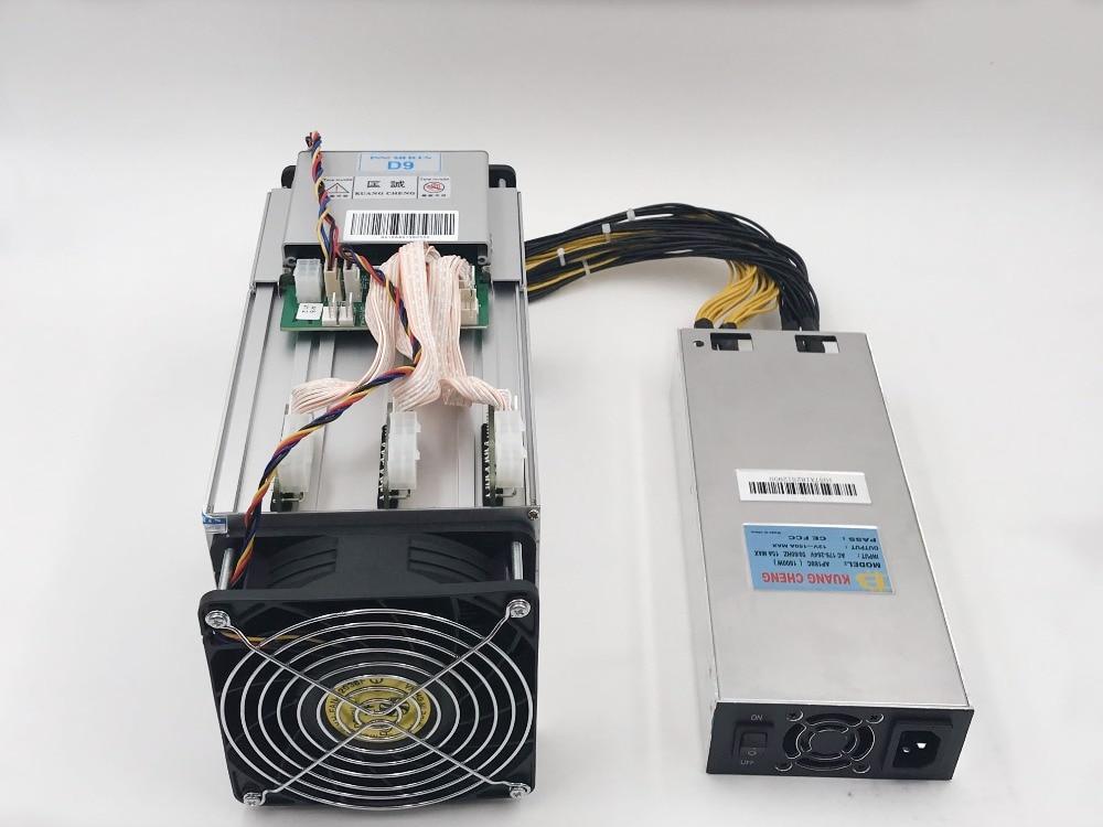 Asic Miner D9 DecredMaster 2.4TH/S 1000W Blake 256 with power supply  Better Than Antminer Z9 Mini S9 V9 L3