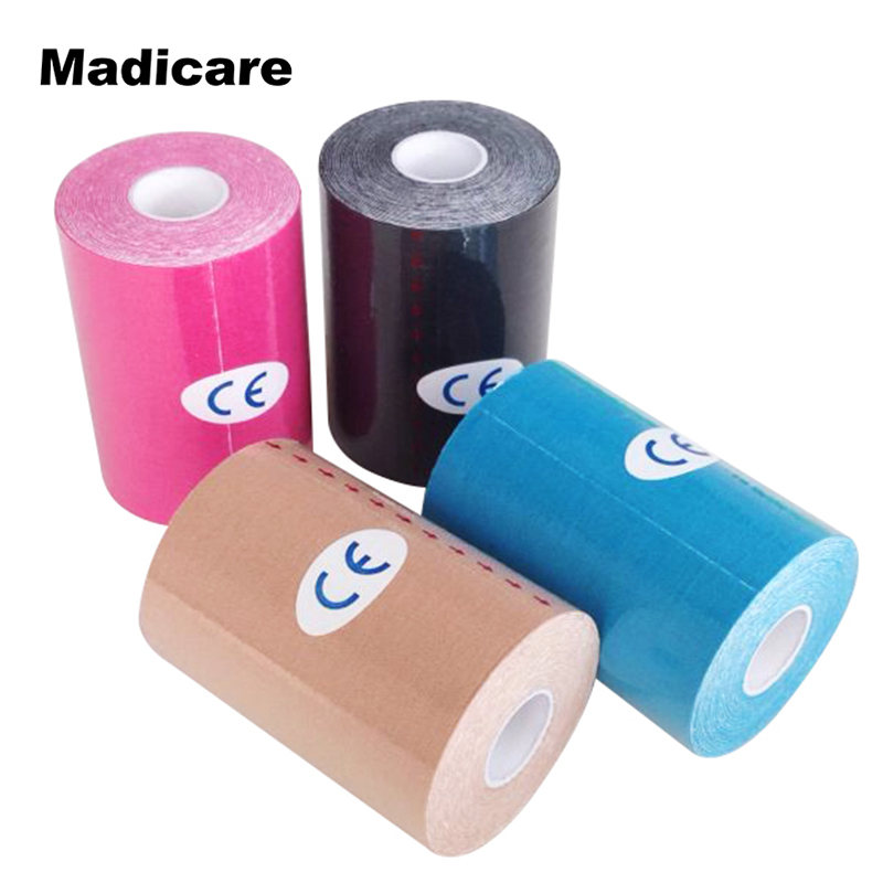 10cmx5m Kinesiology Tape CottonTherapy Muscle Tape Waterproof Bandage Football Outdoor Swim Fishing Sports Safety Sports Tape