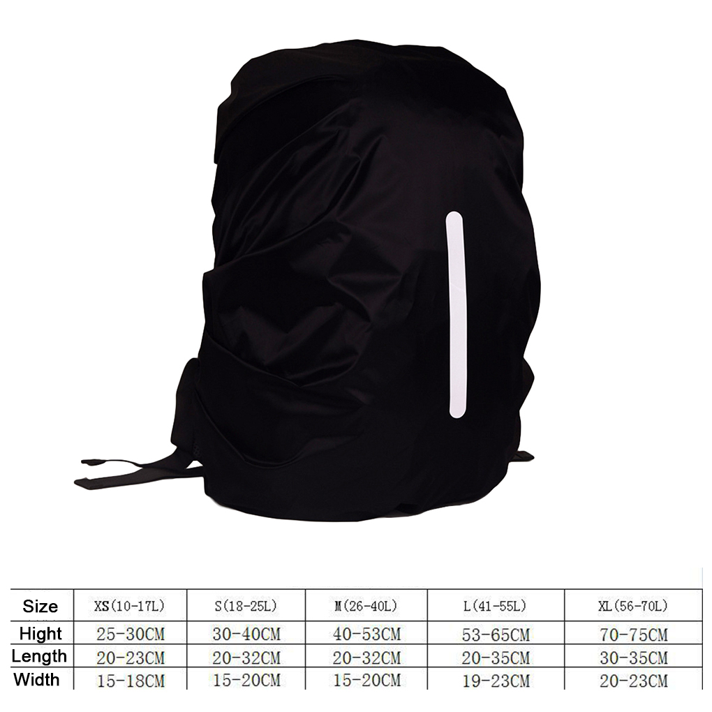 Image 5 - Safe Backpack Rain Cover Reflective Waterproof Bag Cover Outdoor Camping Travel Rainproof Dustproof-in Raincoats from Home & Garden