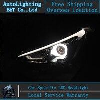 Car Styling For Hyundai Solaris Headlights 2011 2013 Accent Led Headlight Verna Drl Turn Signal Drl