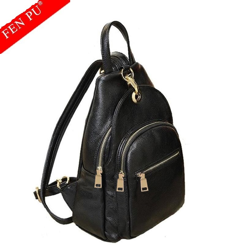 2017 Fashion Cowhide Backpacks Women Genuine Leather School Bag Girls Female Travel Shoulder Bags Waterproof Back Bags Mochila