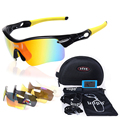 2016 new brand KUPO Radar Cycling sunglasses, sport Eyewear ,UV400 5lens Polarized Motorcycle Glasses,Motocross Goggles