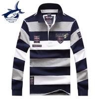Brand Tace Shark Shirt Men Fashion Striped Slim Fit Camiseta Masculina Shirts Plus Size Shark