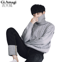 New 2017 Unisex Men S Sweaters High Turtlenecks White Sweater Men Pullover For Autumn Winter Knitwear