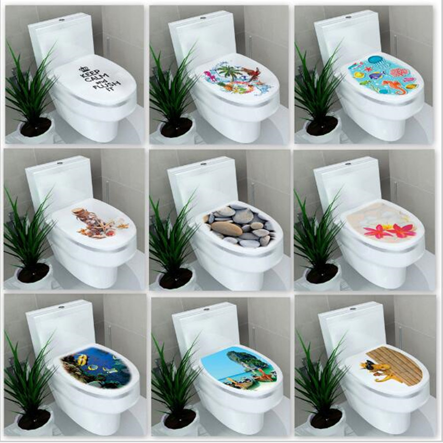 32 39cm sticker wc pedestal pan cover sticker toilet stool for Decor 1 32