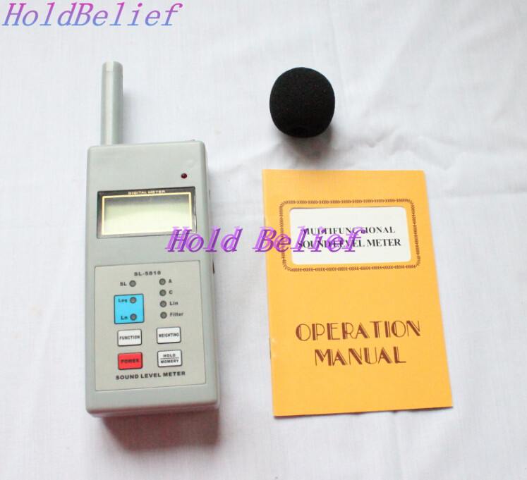 SL5818 Digital LCD Sound Noise Level Meter Decibel Monitor Tester SL-5818  цены