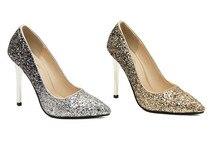 Pumpen 2014 Frauen High Heels Schuhe Sexy Spitz Partei High Heels Gold Hochzeit Schuhe Casual Damen Schuhe Weibliche