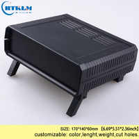 Plastic enclosure for junction box Plastic electronic box abs box diy instrument case custom distribution box 160*130*48mm