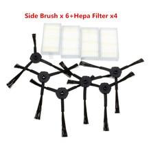 NEW Vacuum Cleaner Accessories Pack For Panda X500 ECOVACS CR120 X600 Side Brush X 6pcs 3Set  Hepa Filter X 4pcs