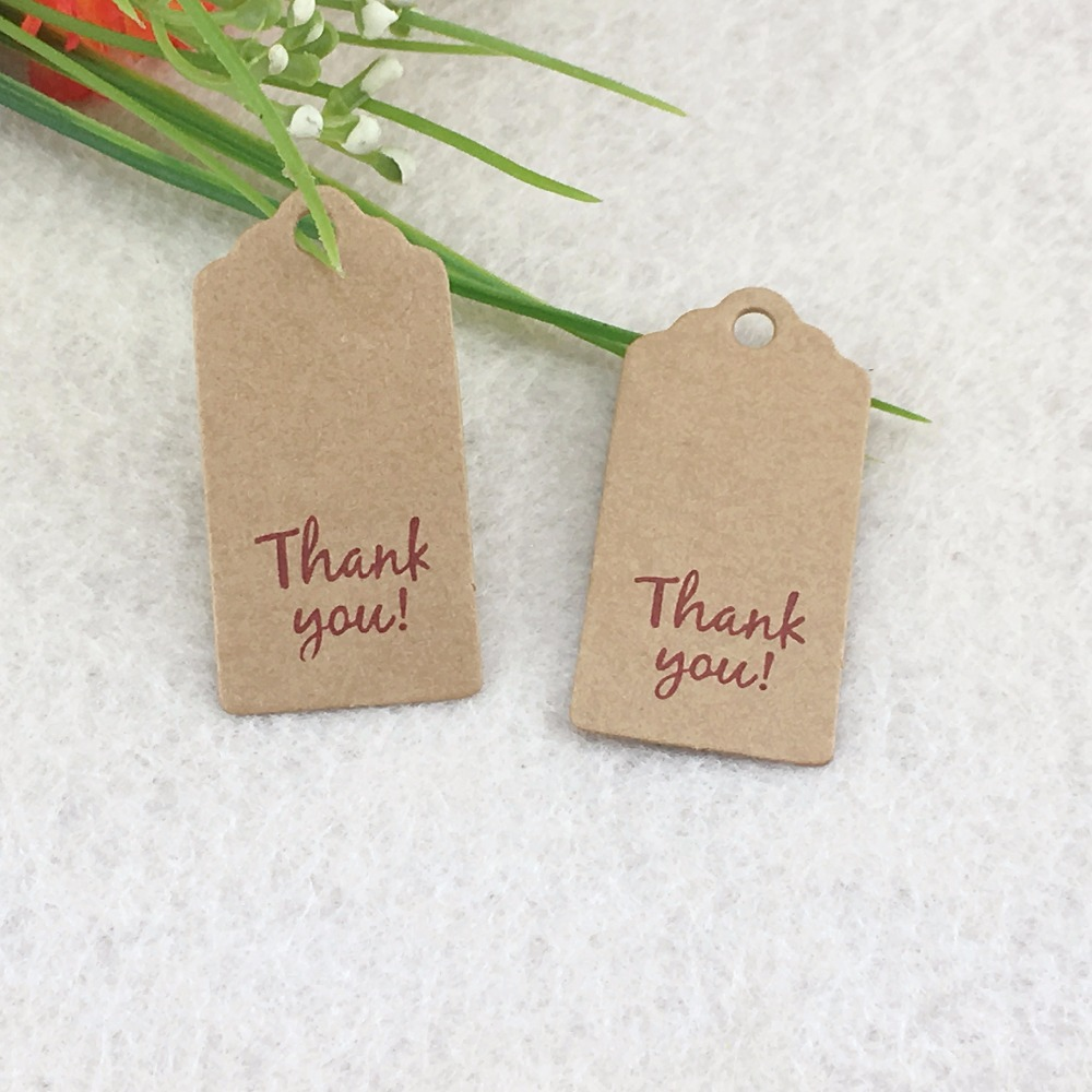 4x2cm 400pcs/lot personalized thank you wedding tags wedding favor ...