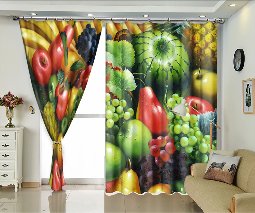 Turtle Fruit HD Pattern 3D Shade Curtains