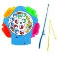 Novo DIY Engraçado Brinquedo de Pesca Elétrica Rotativa Magnet Magnetic Pesca Peixe para Kid Crianças Jogo Brinquedo Educativo