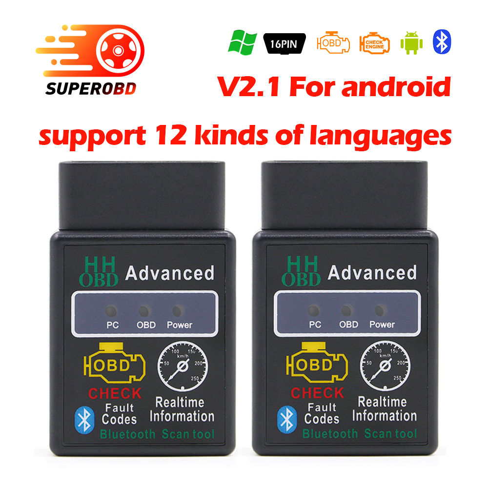 ELM327 Bluetooth v2.1 OBDII obd2 Scanner ELM 327 OBD2 diagnostic scanner for Android