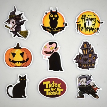PVC Graffiti Waterproof Personality Cartoon Sticker Car Styling Halloween Waterproof Doodle Removable Stickers image