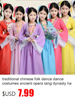Древняя опера династии Тан Хан мин ребенок ханьфу платье Традиционный китайский народный танец танцевальные костюмы одежда для девочек Дети