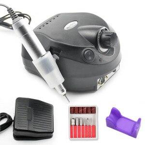 Image 1 - Электрическая дрель для ногтей 35000 об/мин, электрическая машинка для обработки ногтей, дрель, аппарат, набор инструментов для педикюра, пилочка для ногтей, инструмент