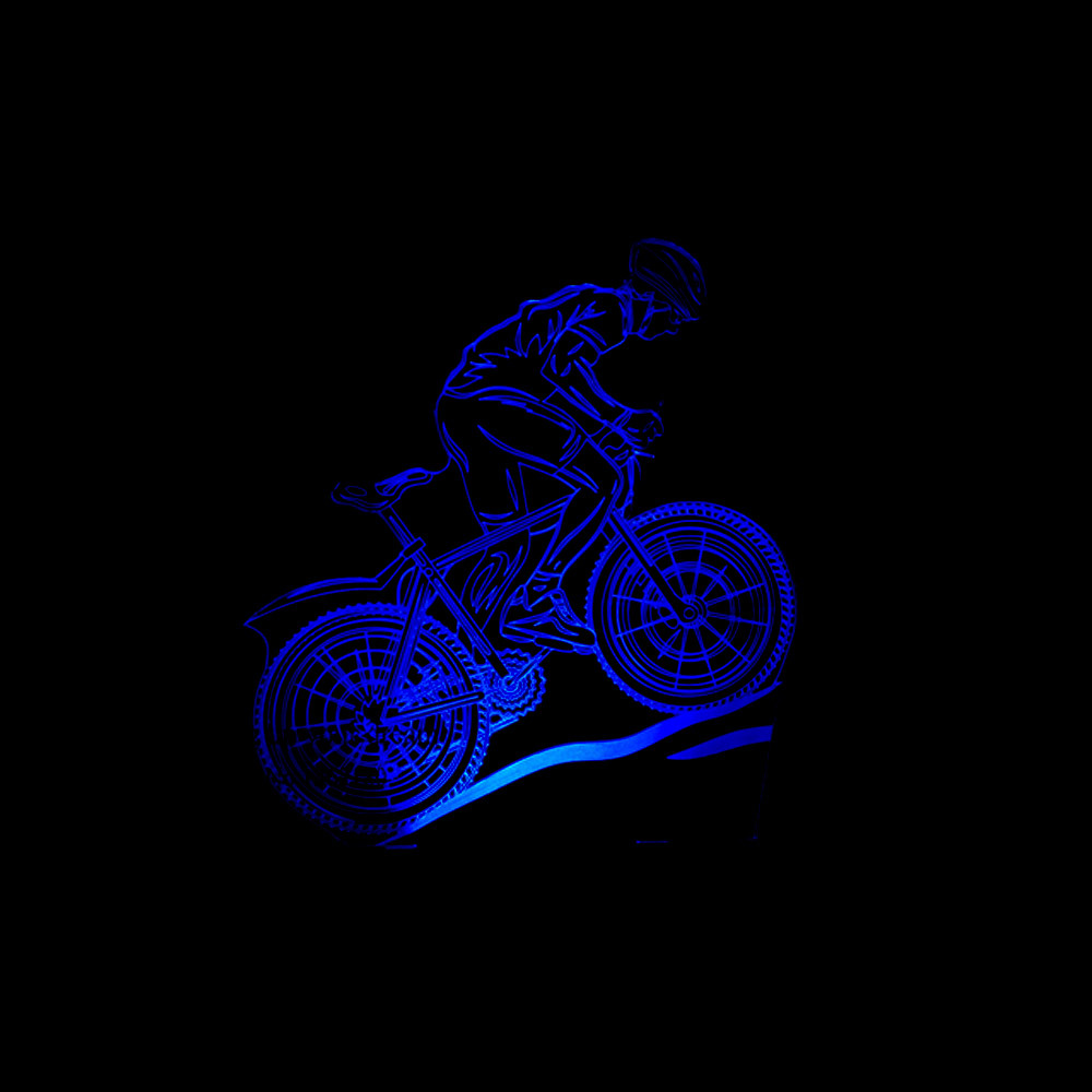 USB LED 3D MTB Mountain Bike Table Lamp Bedroom Bedside Sleep Light Fixture 7 Colors Athlete Sport Lover Night Light Decor Gifts