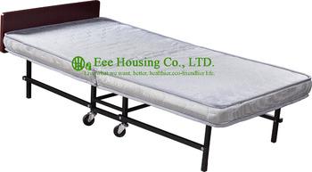 2016 gorąca sprzedaż meble hotelowe dodatkowe hotel łóżko hotel pokój gościnny Hotel dodatkowe łóżko składane 10 cm materac łóżka tanie i dobre opinie EH-J24 Commercial Furniture Single Hotel Folding extra bed Sponge mattress Iron frame wood headboard 10cm L193*W92*H55cm
