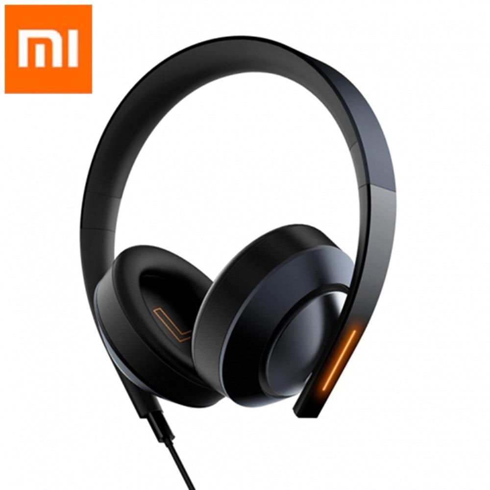 Original Xiaomi Mi Gaming Headset 7.1 Virtual Surround Sound Headphones with LED Light Noise Cancelling Volume Control for PUBG mi headphones comfort white