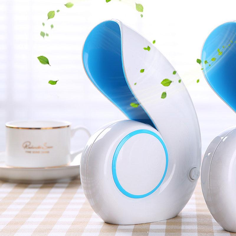 No Leaf Fan Air Conditioner Mini USB Handheld Sea Snails Shell Shape No Leaf Fan Household Portable Bladeless Cooling Cooler portable handheld mini usb cooling fan bladeless household no leaf air conditioner fans electric conditioning cooler office home