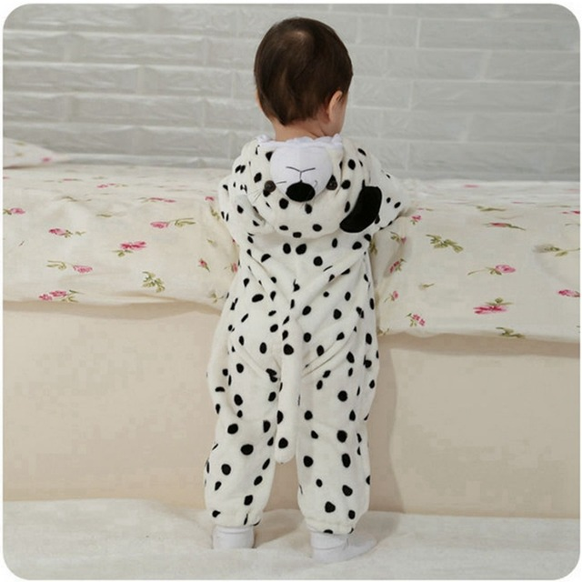 822de146f8f3 Baby Boy Girl Hooded Rompers Animal Cosplay Costume Newborn Infant Jumpsuit  Snow Leopard Clothes
