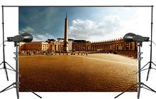 7x5ft Classic St. Peters Basilica Square Photography Background Blue Sky landscape Backdrop Photo Studio Holiday background