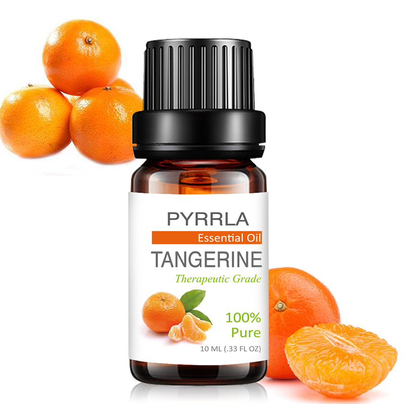 Pyrrla 10ml Tangerine Pure Essential Oils Refreshing  Aromatherapy For Purifying Air Orange Ginger Myrrh Massage Essential Oil