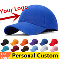 One piece Custom Baseball Caps Personalized Adult Team Hat Children Kids Cotton Twill Hats embroidery printing logos 1pc OEM