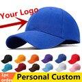 Una pieza Gorras de Béisbol de Encargo Personalizada Del Equipo Adulto del Sombrero de Los Niños de Algodón Sombreros Sarga De impresión bordado logos 1 unid OEM