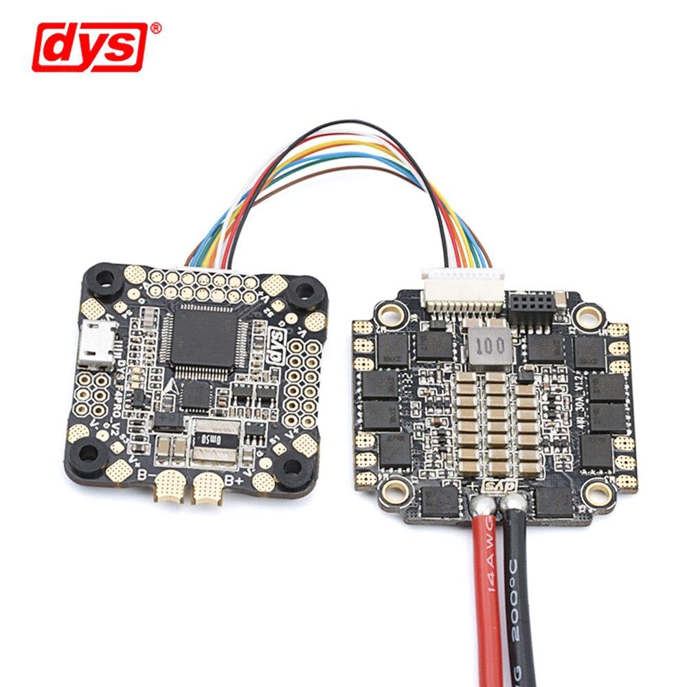 Contrôle de vol DYS F4 PRO V2 Betaflight avec 5 V/3A 9 V/1,2a BEC intégré circuit de protection intégré connexion de câble plat OSD - 2
