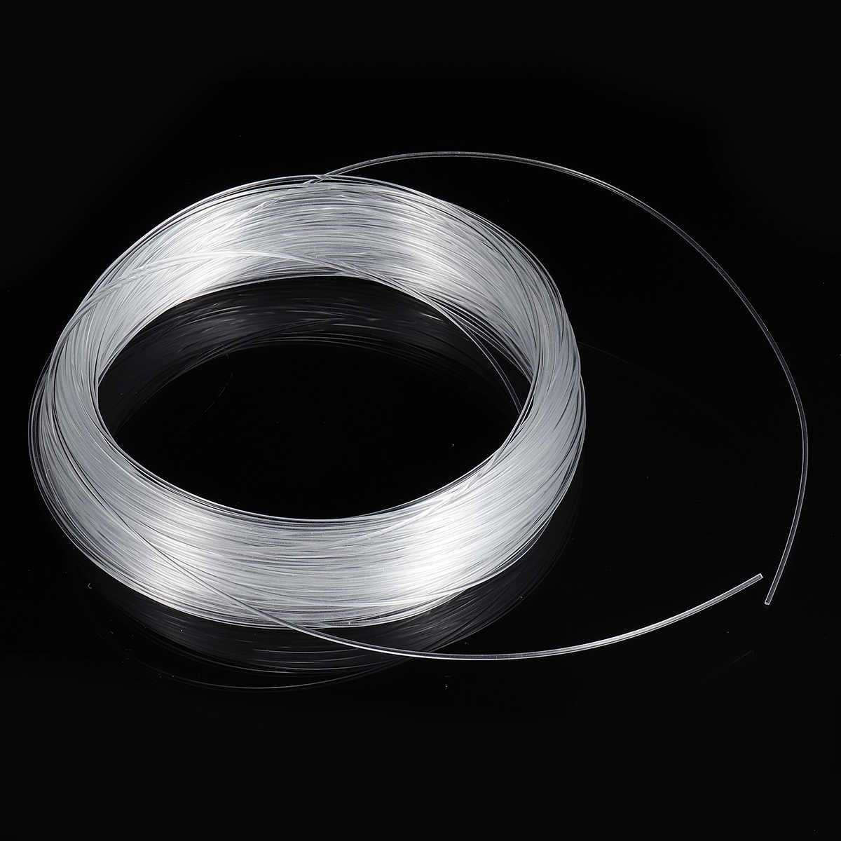 hight resolution of  clear pmma optic cable fiber light 50m 164ft end grow led light guide kit diy