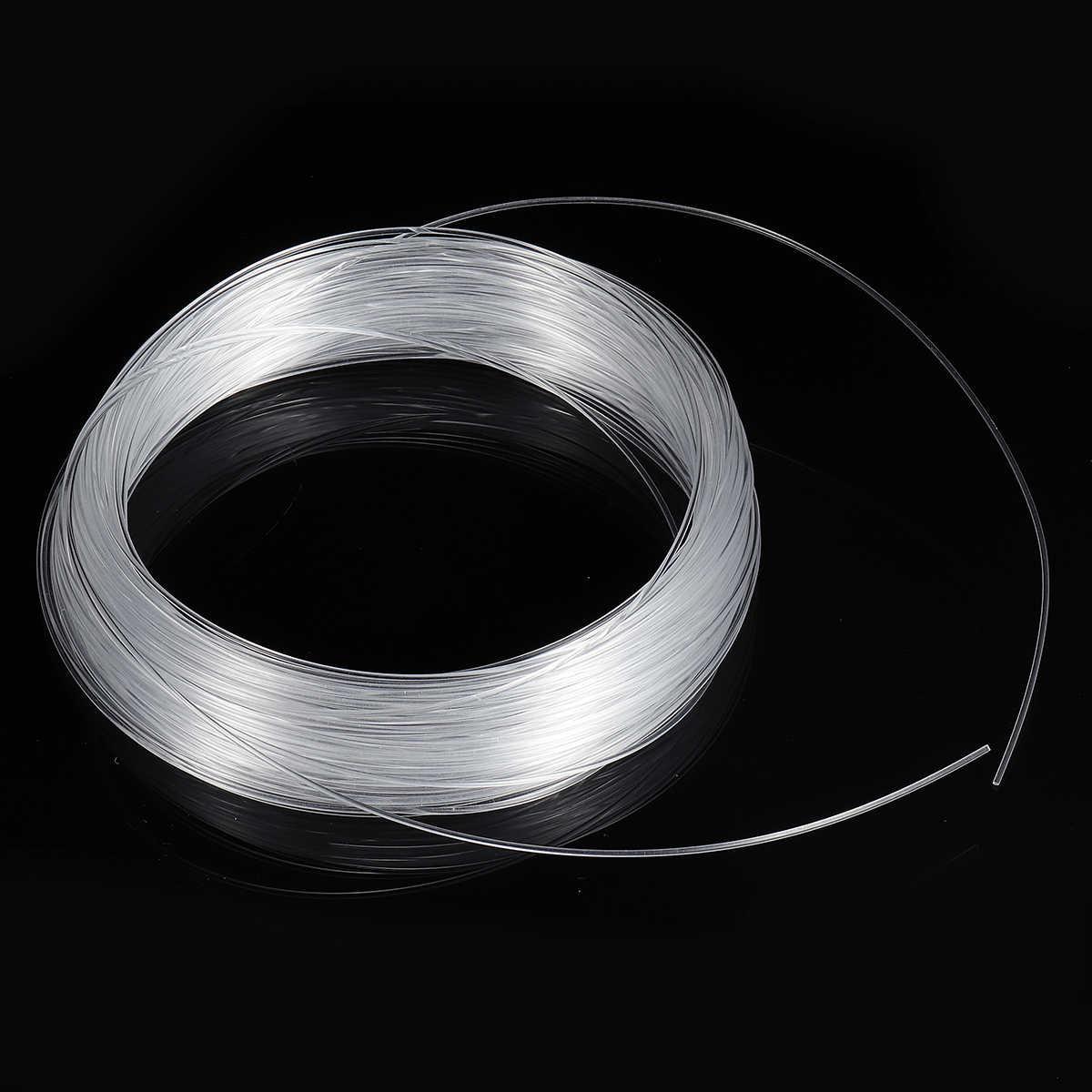 clear pmma optic cable fiber light 50m 164ft end grow led light guide kit diy  [ 1200 x 1200 Pixel ]