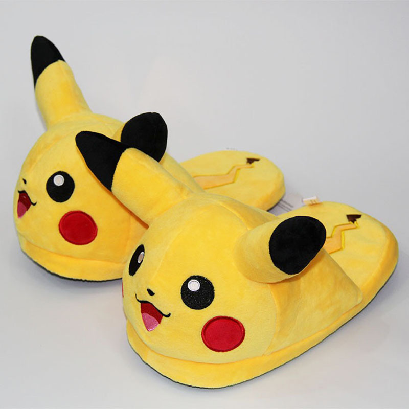 Unisex Anime Cartoon Slippers Home Warm Shoes Indoor Bedroom Slides Warm Plush Cute Pikachu Snorlax Eevee Gengar Dolls Slipper anime cartoon monster mudkip flareon snorlax adult plush slippers home winter slippers plush toys