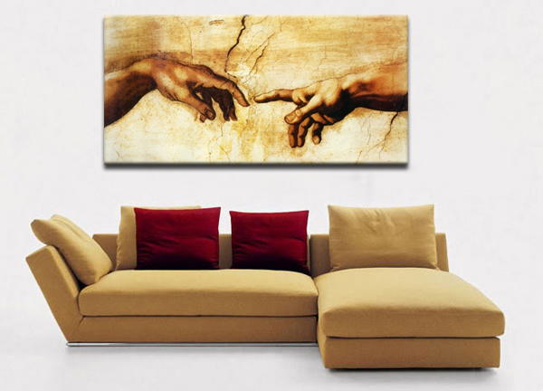 Buy large canvas prints creation of adam for Where to buy canvas art