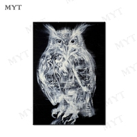 MYT Free Shipping For Sell Wholesale Dropping Owl Oil Painting On Canvas Wall Art Painting Picture on Canvas Home Decoration
