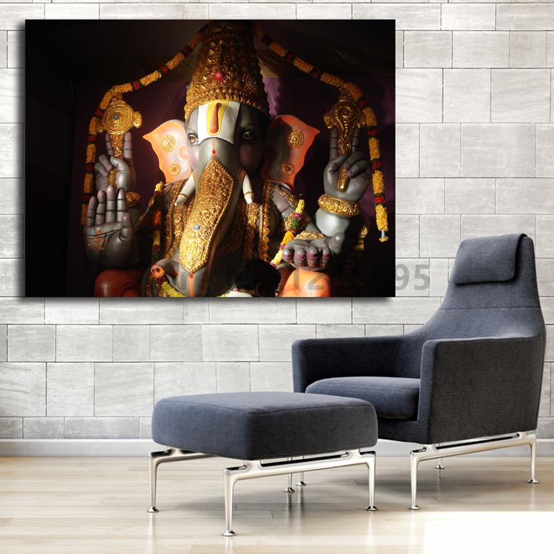 US $5.7 5% OFF|Lord Ganesha Indian God HD Wallpaper Canvas Painting Print  Living Room Home Decor Modern Wall Art Oil Painting Poster Artwork-in ...