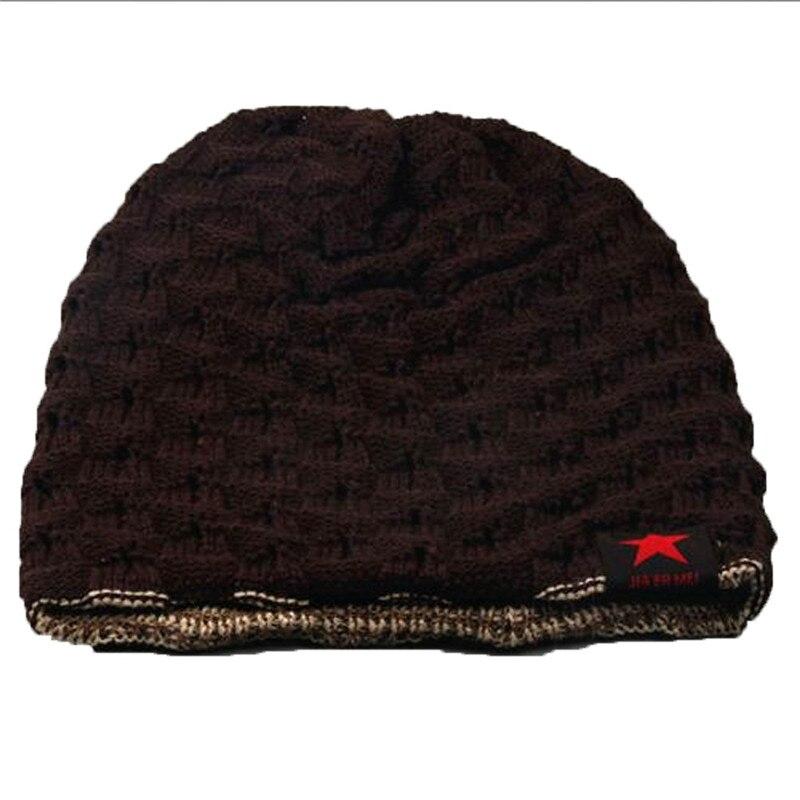#2533 Winter Skull Men Knit Beanie Reversible Baggy Wool Cap Warm Unisex Hat D45