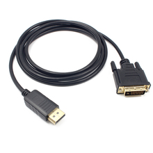1.8M Professional DP to DVI Converter Cord High Quality DisplayPort Male to DVI-D 24+1Pin Male Monitor Display Adapter Cable cy dp 073 le left angled 90┬░ mini displayport dp male source to dvi male sink monitor cable 150cm