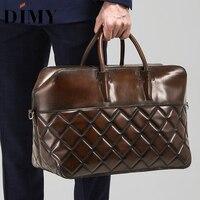 DIMY Мужская Дорожная сумка из натуральной кожи, ручная сумка из голландской телячьей кожи, сумка на молнии, Большая вместительная спортивная