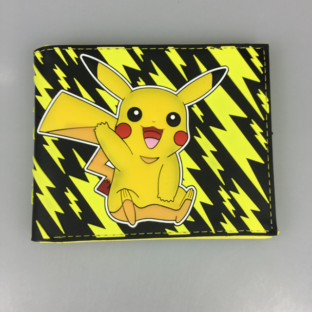 Cartoon Short Wallet Pocket Monster Pokemon Satoshi Pikachu Short Wallets Two Fold Purse children wallet gift Girl's Shoes
