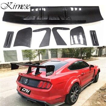 Kirnese akcesoria samochodowe wysokiej jakości włókna węglowego tylny Spoiler bagażnika skrzydło nadające się do Ford Mustang Coupe 2015-UP
