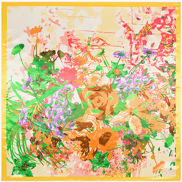 Little Daisy Flowers Scarf Silk Feeling 90cm Scarves Match Apparel font b Accessory b font Woman