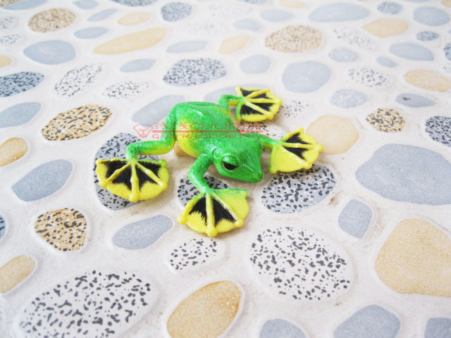 1lot/3pcs  Blip toys ! solid animal model toy polypedatid suction cup frog  4-7CM