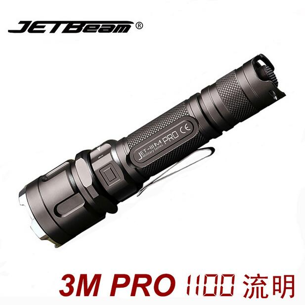 Jetbeam 3M PRO Police Flashlight Cree XP-L LED 1100 Lumens Torch Selfdefence Tactical Equipment by 18650 Battery