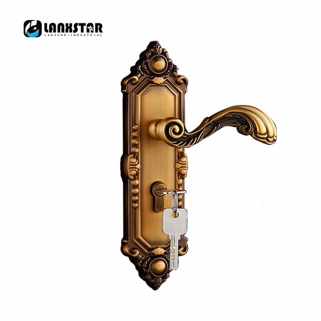 Beau Fashionable Zinc Alloy Handle Lock High End Mechanical Locks Room Door Knob  Locker Indoor Handle